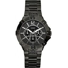Authentic GUESS Women Black Multifunction Crystal Watch U13620L1 New with Box