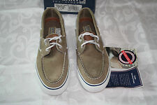 New Sperry Top-Sider Women's BAL harbour Boat Cement Leather Shoe Us 6.5 M Eu 37