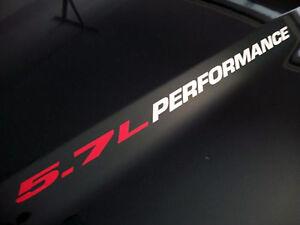 5.7L PERFORMANCE (pair) Hood decals emblem logo FITS:  Ram Hemi Chevrolet Vortec