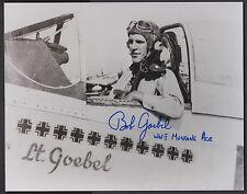 "Col. Bob Goebel, ""The Flying Dutchman"" P-51 Pilot, signed 8""x10"" B&W Photo"
