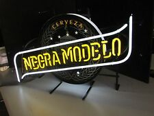 Negra Modelo Beer Sign Man Cave Neon Light Cerveza Brewery Import Bar 5 Star Ale