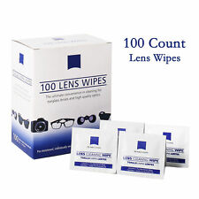 Zeiss Pre-Moistened Lens Cloths Wipes 100 Ct for Glasses Camera Phone Cleaning
