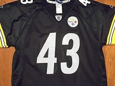 Vintage Troy Polamalu #43 Pittsburgh Steelers Jersey by Reebok, Youth Large