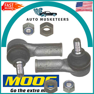 For Jaguar Vanden Plas XJ12 XJ8 Set of 2 Outer Tie Rod Ends Moog ES3244