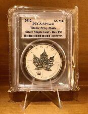 2012 Canada Silver Maple Leaf $5 1 Oz Reverse Proof Titanic Privy PCGS SP Gem