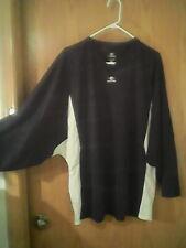 New listing Easton brand black & white jersey, adult L, 100% polyester, plain, Goalie