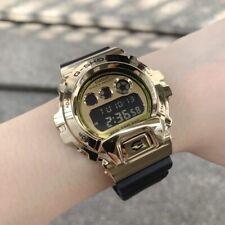 Casio G-Shock * GM6900G-9 Gold Steel Digital Case Black Resin Strap Watch