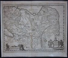 1638 TARTARIA SIVE MAGNI CHAMI etching Merian Russia China Mongolia Kazakhstan