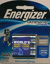 Energizer 1 piece of  4-Pack 1.5v Ultimate Lithium size AAA Batteries NEW