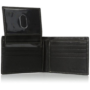 New Timberland Men's Genuine Leather Slimfold MILLED PASSCASE WALLET Black