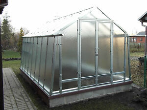 Stahl Gewächshaus 3x4m 12m2 Metall&Glas Treibhaus