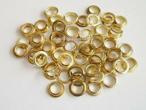 """1/2"""" x 100pc  BRASS PLATED GROMMETS ~ Tarps - Tents - Awnings - Pools"""