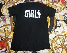 Girl Skateboards Og Skate Black Shirt Logo Sz M Thrasher Baker Enjoi Blind Vtg