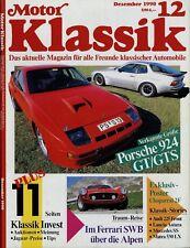 Motor Klassik 12/90 1990 Hanomag 1,3 Sting Ray Duntov Matra 530LX 924 Carrera GT