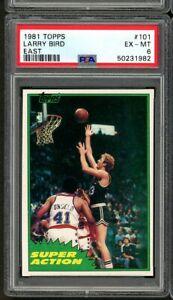 1981 Topps East Super Action Larry Bird #101 PSA 6 EXMT HOF Boston Celtics