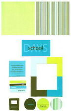 MME Second Avenue 12 x 12 Scrapbooking 8 Piece Page Kit Lot - SCHOOL DAYS