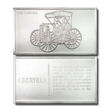 Franklin Mint Classic Cars 1893 Duryea 2.125 oz. Sterling Silver Ingot
