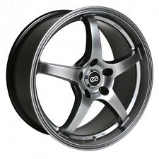 15x6.5 Enkei VR5 5x114.3 +38 Hyper Black Rims Fits Type R Talon Civic
