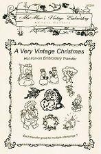 A Very Vintage Christmas Hot Iron Transfers by MaMaw's Vintage Embroidery