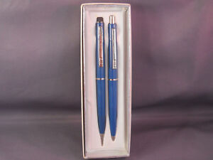 Paper Mate Double Heart Ball Pen&Pencil Set in box--blue-Ninety Eight-- USA-