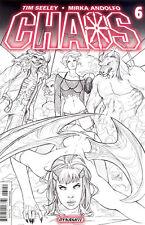 Chaos #6 - Incentive Nei Ruffino Black & White Cover - Dynamite Entertainment