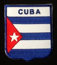 CUBA CUBAN COMMUNIST STAR NATIONAL FLAG BADGE IRON SEW ON PATCH CREST SHIELD