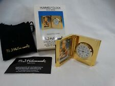 "Solid Brass Hummel Clock ""Thoughtful HU3005"" w/box"
