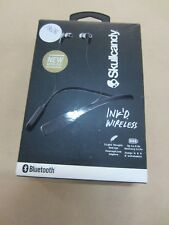 SKULLCANDY INK'D BLUETOOTH WIRELESS EARBUDS WITH MIC BLACK ~ NEW IN SEALED BOX
