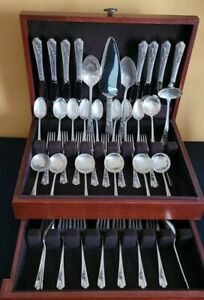 Frank M. Whiting - Silver Song Flatrware Set of 46 (5 pcs Setting For 8 People)