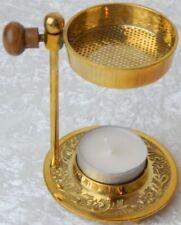 Weihrauchbrenner OMAN golden graviert, Räuchergefäß, Räucherstövchen
