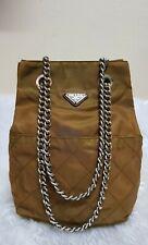 Authentic Preloved Prada Vintage Nylon Brown/Caramel Chain Shoulder Bag
