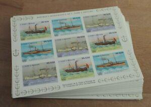 1983 Sao Tome; 100 Klb. Schiffe, Mi. 906/9 B ungezähnt, **/MNH, ME UNBEKANNT!