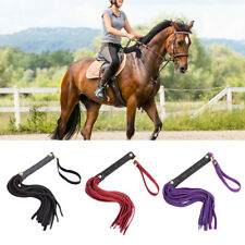 Horse Riding Whip Equestrian Handle Faux Leather Crop Training Tool Cosplay US