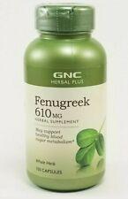 ** NEW - GNC Herbal Plus Fenugreek 610 mg 100 capsules - Exp: 03/2023 **