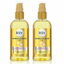 2 x Veet Miraculous Oil 100 ml  Natural Oil Pre and Post Hair Removal