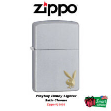 Zippo Playboy Bunny Lighter, Satin Chrome #29603
