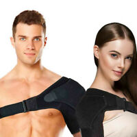 Shoulder Brace Rotator Cuff Pain Relief Support Adjustable Belt Sleeve Unisex CA