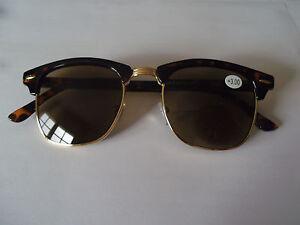 +2.50 DESIGNER EYE-LEVEL UNISEX Reading Sunglasses Sun Readers BROWN with case