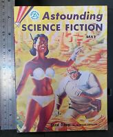 Astounding Science Fiction May 1956, vintage pulp magazine, sci fi fantasy retro