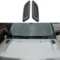 For Range Rover Evoque 2012-2021 Gloss Black Hood Air Vent Protector Cover Cowl