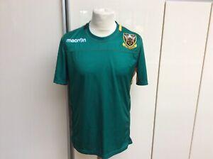 Preowned - Green Northampton Saints Rugby Macron Short sleeve shirt - size Large