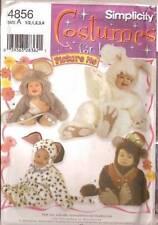 PATTERN SIMPLICITY 9821 Kids Baby monkey Mouse Bunny Rabbit Dog 1/2 to 4