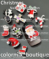NEW Nail Art Tips Decoration 3D Christmas Fashion Glitter Alloy Jewelry #XM_02
