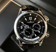 JAEGER LECOULTRE MASTER COMPRESSOR GEOGRAPHIC STEEL 41.5 MM WATCH-BOX/PAPERS-