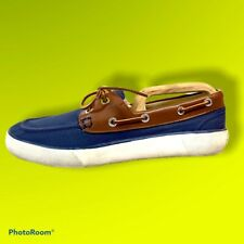 Ralph Lauren Pol Blue Canvas Deck Boat Rylander Shoes UK 7 US 8 EU 41