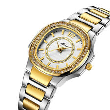 Geneva Designer Ladies Womans Diamond gold silver plated watch Quartz Girls