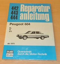 PEUGEOT 604 SL TI STI 1975 Motor Bremsen Elektrik Räder Reparaturanleitung B442