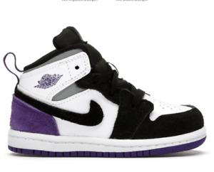 Kinderschuhe. Babyschuhe. NEU!  Jordan 1 Mid SE Purple (TD) Original aus USA