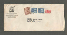 1941 Columbia to Usa Hartford Fire Insurance Advertising Cover Medellin Columbia