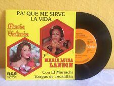 MARIA VICTORIA-MARIA LANDIN PA' QUE ME SIRVE LA VIDA MEXICAN 7' SINGLE RANCHERAS